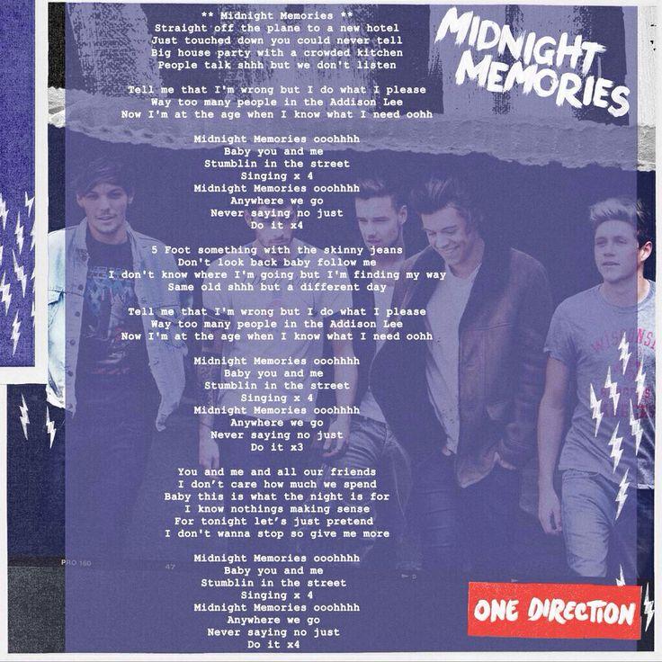 Midnight Memories lyrics! | One Direction Lyrics/quotes ...