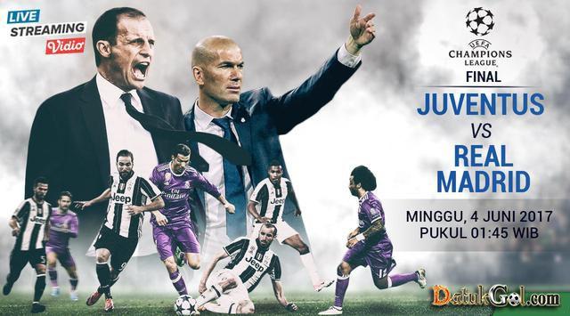 Prediksi Final Liga Champions Juventus vs Real Madrid, menurut anda siapakah yang akan mendapatkan gelar paling akbar di dunia sepakbola klub????