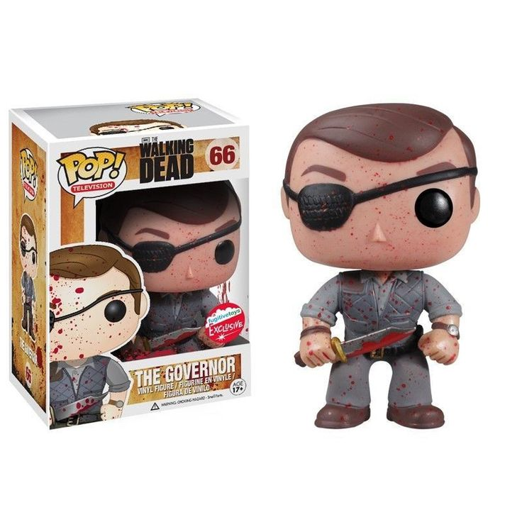 Funko Pop! The Governor The Walking Dead Bloody Variant Vinyl Figure Fugitive Exclusive