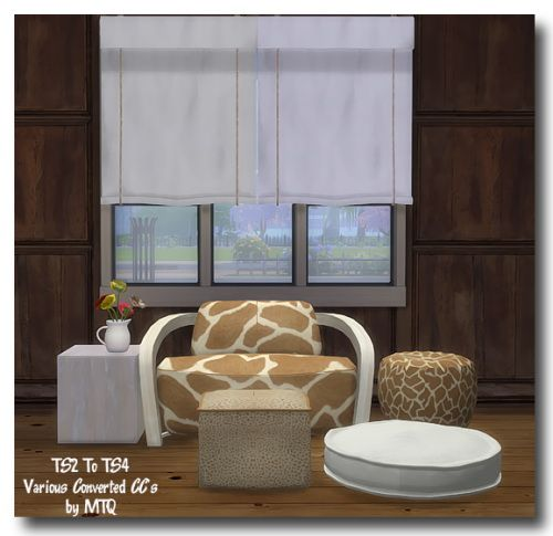 Msteaqueen: Curtain and Loft Bedroom armchair recolors converted from TS2 to TS4 • Sims 4 Downloads