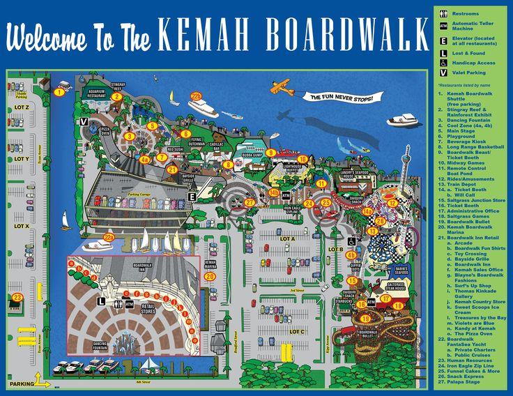 Map+of+Kemah+Boardwalk+Restaurants   kemah boardwalk 215 kipp ave kemah tx 77565 877 at kemah 877 285 3624 ...