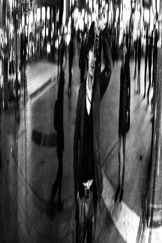 "Distorting mirror ""Shibuya Tokyo"" Shot on the Leica M6 with a Canon 50mm f/0.95. Kodak TRI-X b&w film push processing +2 akihirohamada.blogspot.jp/"