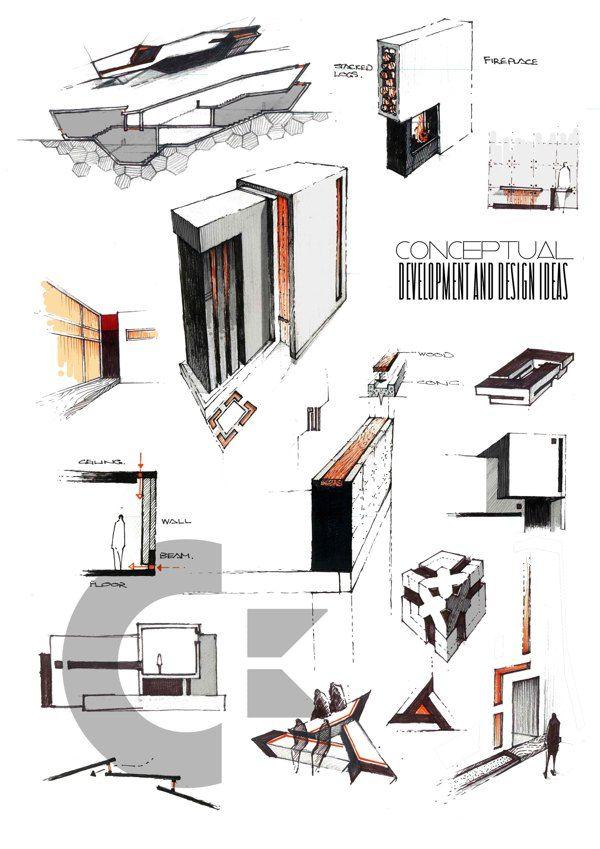 Professional Architecture Portfolio by Anique Azhar, via Behance
