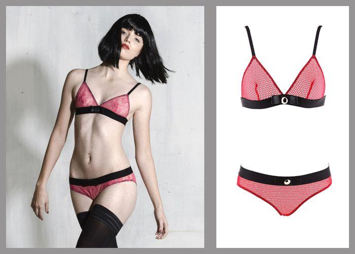Kriss Soonik Silvia Fishnet Pink Valentines bra