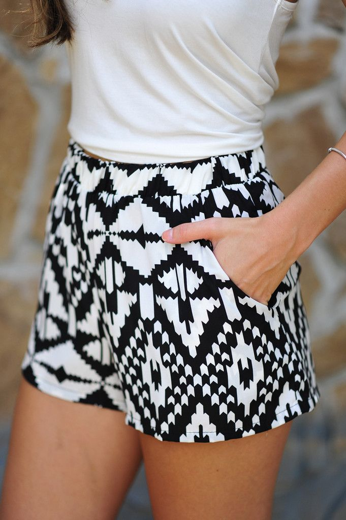 Electric Slide Shorts: Black/White