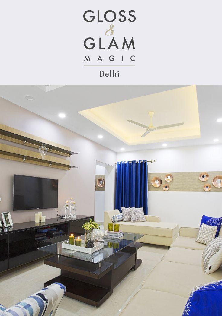 Modern interior design in a delhi family home