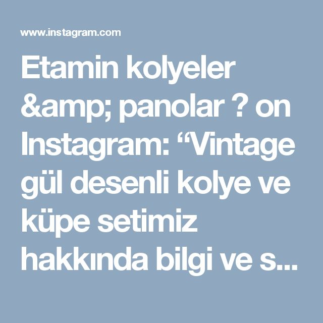 """Etamin kolyeler & panolar 🎈 on Instagram: """"Vintage gül desenli kolye ve küpe setimiz hakkında bilgi ve sipariş için 👉DM  #etamin #kanaviçe #kaneviçe #handmade e #etaminkolye…"""""""