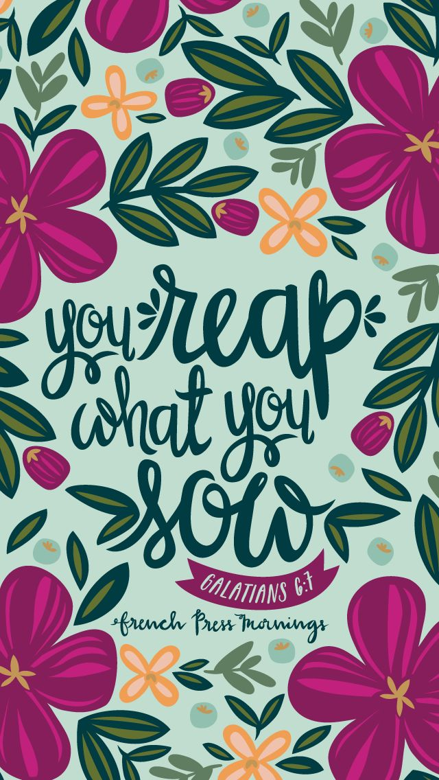 Galatians 6:7 from Encouraging Wednesdays by French Press Mornings #bible #verse #typography