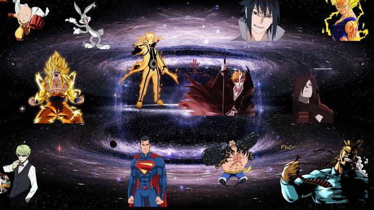 saitama vs superman vs all might vs goku vs naruto by playWithcolours.deviantart.com on @DeviantArt
