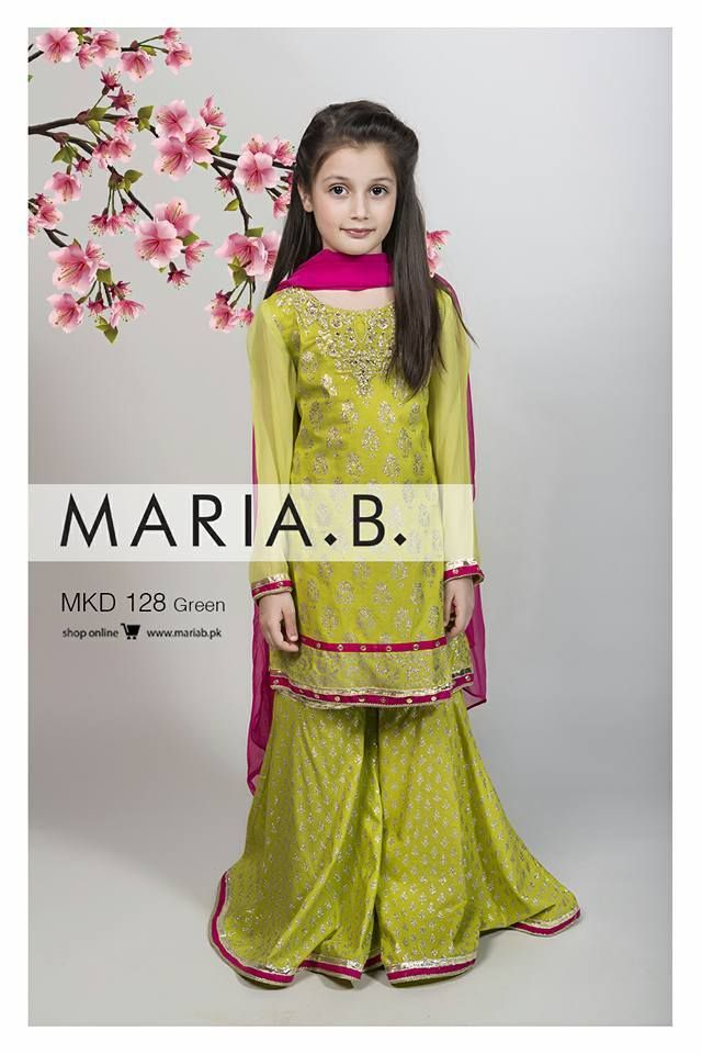 18406011f5 Maria B Stitched Eid Collection 2016-17 for Girls | Eid Collection |  Wedding dresses for kids, Kids party wear, Wedding with kids