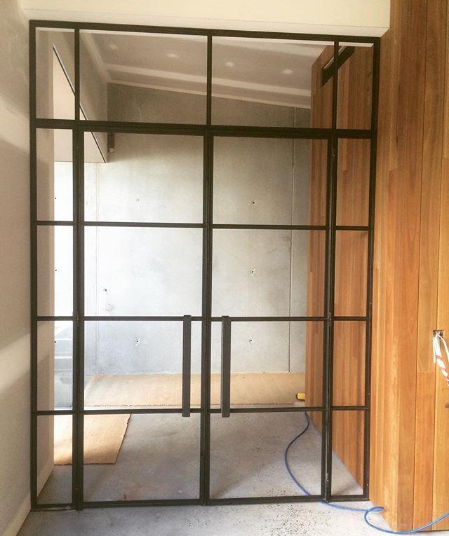 Today's install in Berwick progressing well! #steelwindowdesign #steeldoors #steelwindows #steel #fabrication #madeinmelbourne #custom #design #designideas #instadaily #archdaily #architecture #archilovers #SWD #berwick #homedecor #homedesign