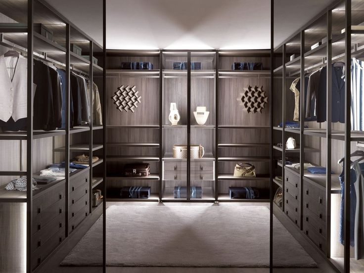PALO ALTO Wood and glass walk-in wardrobe / MisuraEmme