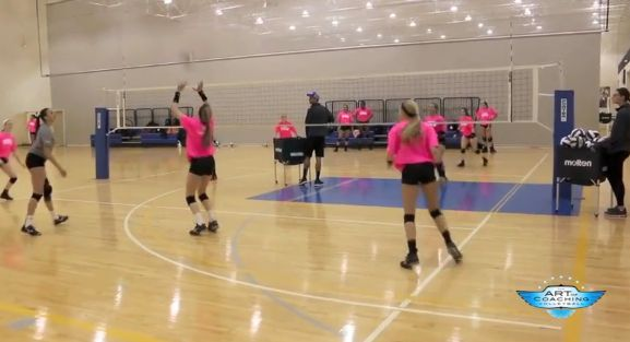 4 on 4 Dig-Set Drill from Texas Advantage Volleyball Club