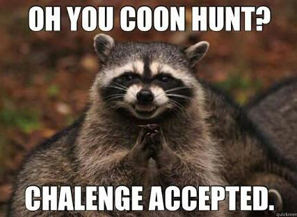 funny coon hunting pictures