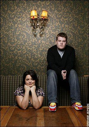 Gavin and Stacey co-writers, Ruth Jones & James Corden. Tidy!