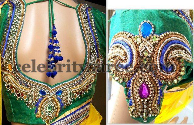 zardosi sarees   Zardosi Bridal Blouse Design   Saree Blouse Patterns