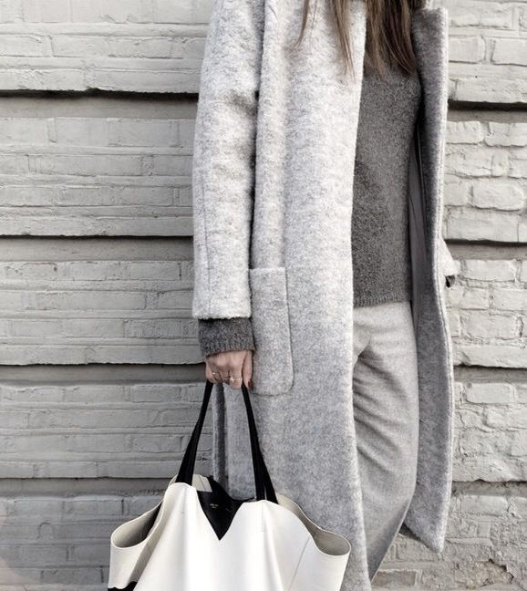 Boiled wool coat:
