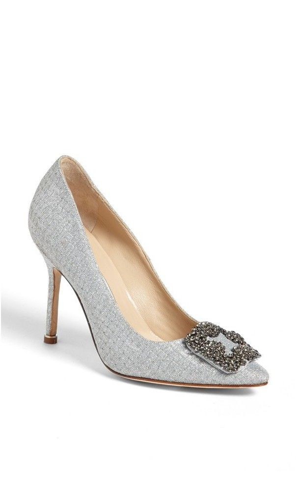 Manolo Blahnik 'Hangisi' Jeweled Pump (Women) available at