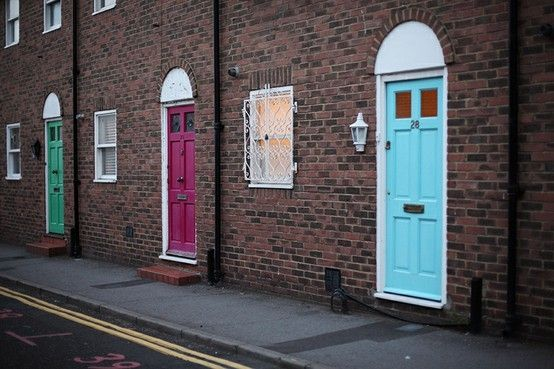 Bright doors in Brighton by lynette