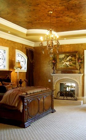 .: Decor, Fireplaces In Bedrooms, Ceilings Treatments, Trays Ceilings, Charlotte Nc, Faux Painting, Master Bedrooms, Painting Effects, Beautiful Bedrooms