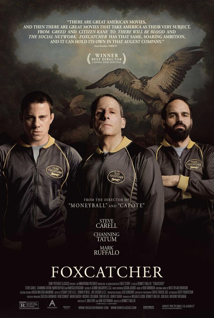 """Nominated for 5 Oscars including BEST DIRECTOR #BennettMiller, ACTOR #SteveCarell, SUPP ACTOR #MarkRuffalo, SCREENPLAY, MAKEUP AND HAIRSTYLLING - """"Foxcatcher"""""""