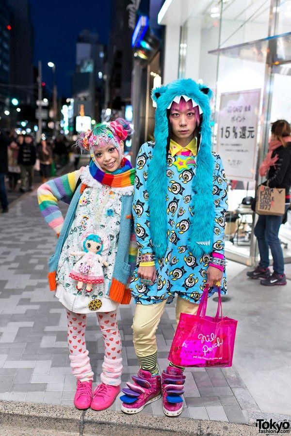 Fashion scene –  Kurebayashi (aka 90884) and Junnyan (aka Junnyan-san)! #Japan #Harajuku @Optivion