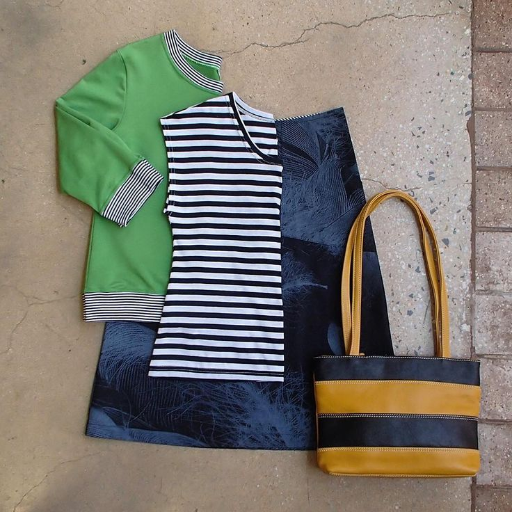 What's on for the weekend?  Essaye's Feather & Stripe combo with Leather Cargo's Nayak bag.  Look like you?  @surface_art @leathercargo   #lyttletonterrace #shopbendigo #australianmade #looklikeyou #cotton #naturalfibres