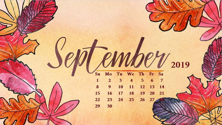 Floral September 2019 Calendar Wallpaper For Desktop Best Pins Calendar Desktop Floral September Calendar Wallpaper September Calendar Desktop Calendar