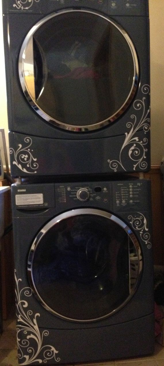 Swirl Design for Washer & Dryer Vinyl Wall by ALastingExpression