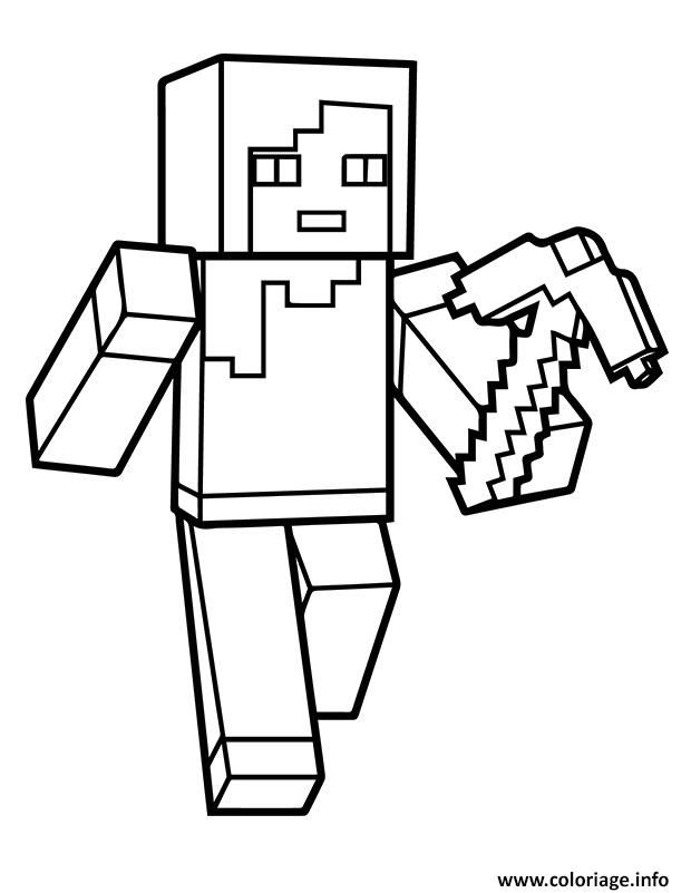 Coloriage Minecraft Alex A Imprimer Coloriage Minecraft
