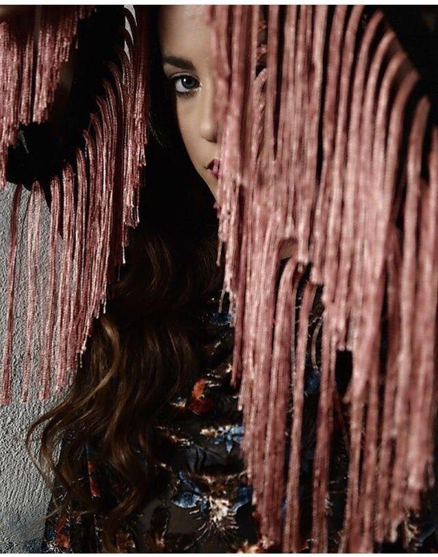~Raven~ velvet fringed poncho