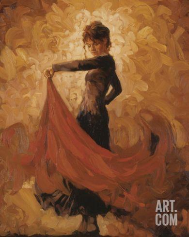 Flamenco I Art Print by Mark Spain at Art.com