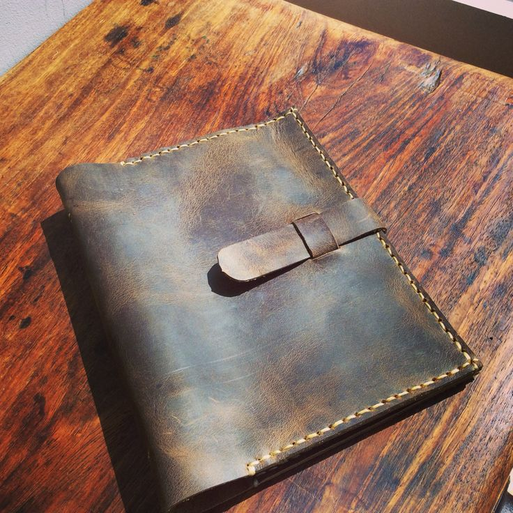DIY leather slipcover for 3 ring binder
