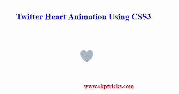 In this tutorial we are going to discuss how to createTwitter Heart Button Animation Using CSS3. If you are user of twitter you may have been observedTwitter HeartAnimation.All the animation effect is controlled bytransition Property of CSSand it provides very smooth animation effect.  We have tried our best to make this tutorial very simple and hope you will like this. Also transition property of CSS helps to display heart blast effects when user click on heart button. Without wasting time…