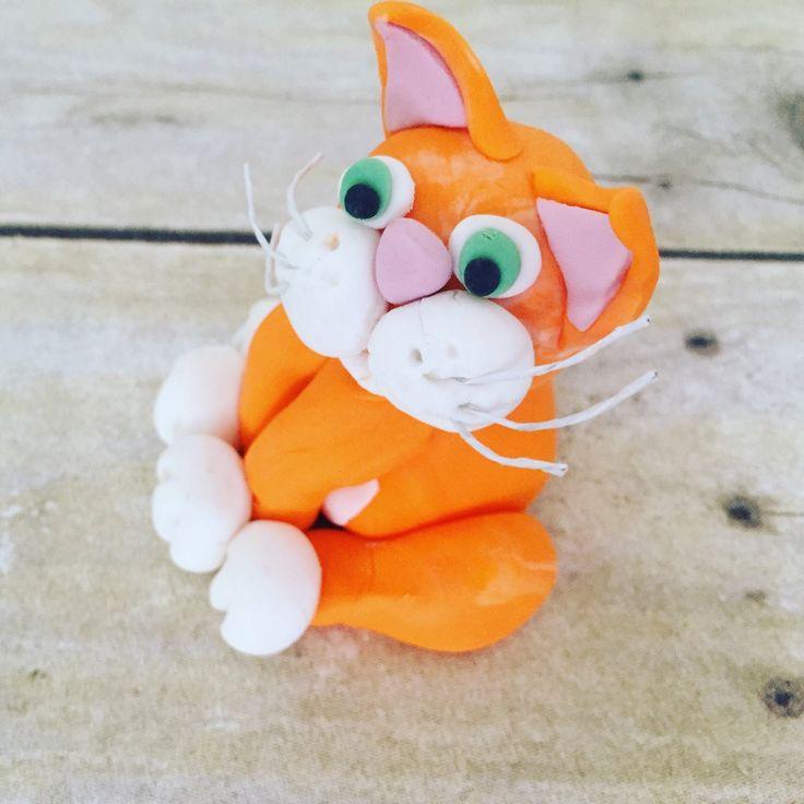 Loved custom making my cat topper for a boy's birthday cake.