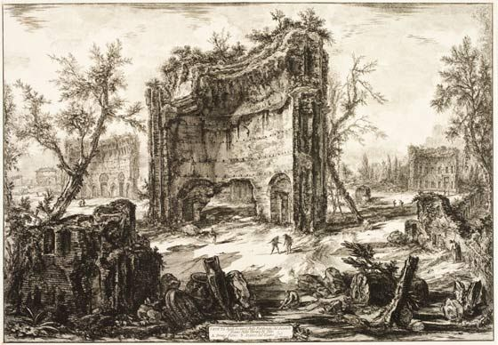 Giovanni Battista Piranesi, 'A View of the Remains of the Second Storey of the…