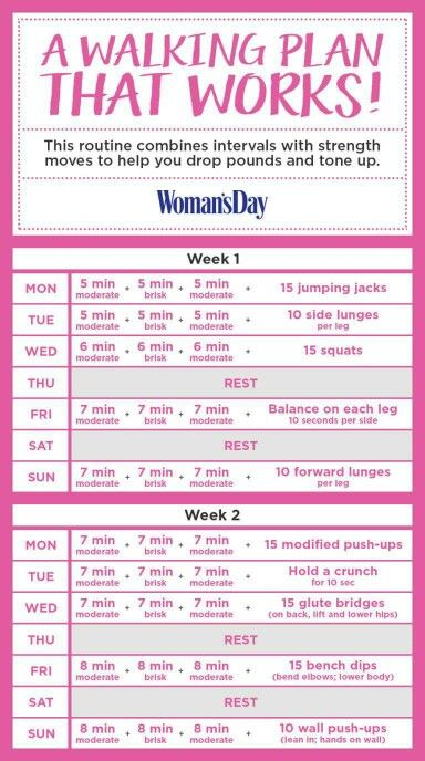 A walking plan that works