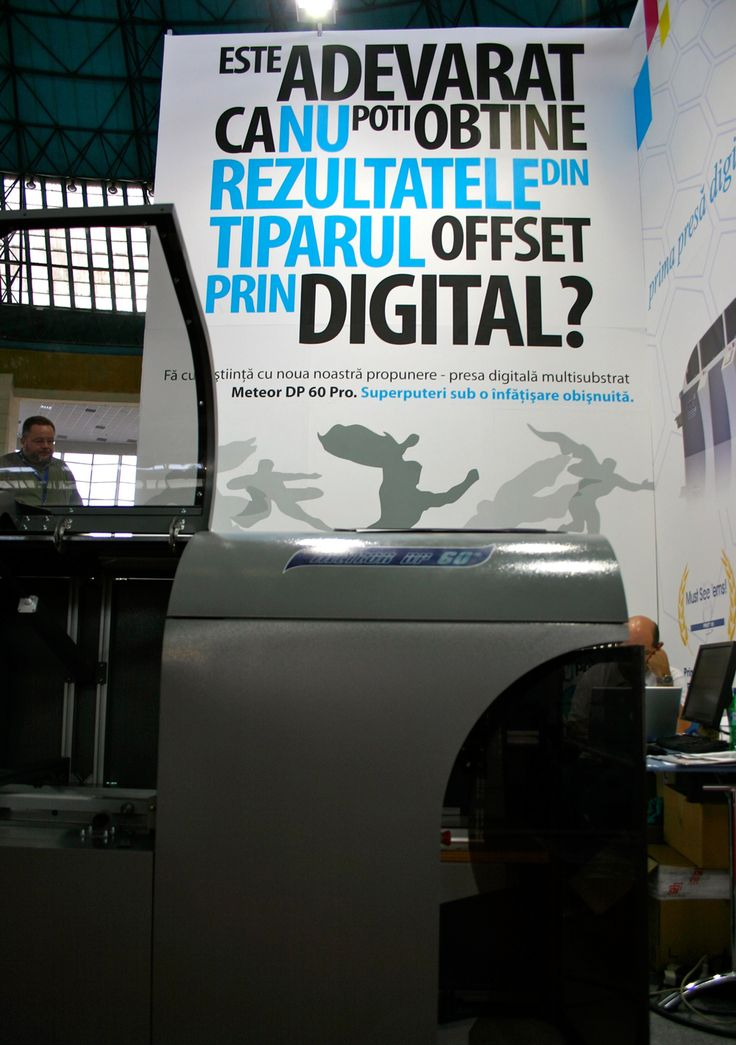 MGI equipment presented at Digital Print & Sign 2010, Bucharest - Grup Transilvae booth