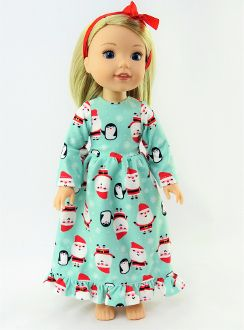 Santa Nightgown for WELLIE WISHERS