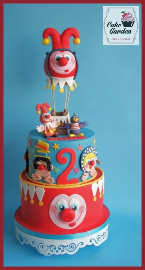 """""""Jokie and Jet fly around the world in an airballoon"""" - Cake by Cake Garden Houten / lalique1"""