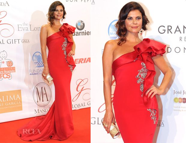 Maria Jose Suarez In Marchesa - Global Gift Gala
