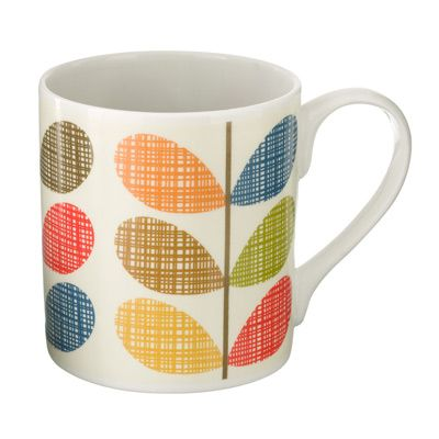 Orla Kiely: These mugs would compliment any retro or contemporary home and would make a perfect gift.    Microwave / Dishwasher Safe  These mugs are designed and made in the UK.    **Please Note:  Mugs cannot be returned or exchanged.