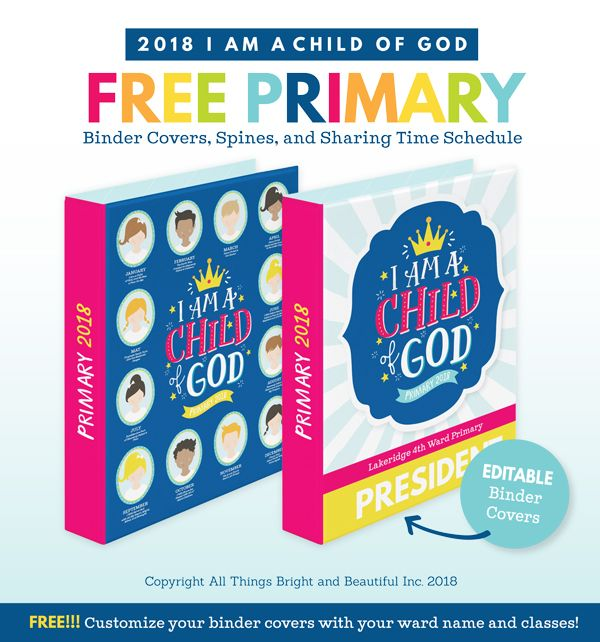 Woo hoo! Look what is now available! I truly love this time of time of year, and was so excited when the Church announced the new 2018 LDS Primary theme... I am a Child of God Isn't that theme so rele