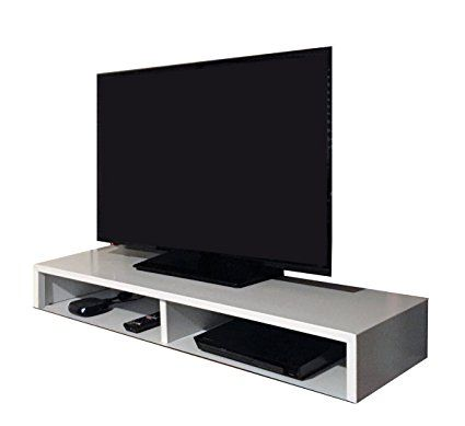 Charming Tabletop TV Stand For Flat Screen (White) | RIZERvue