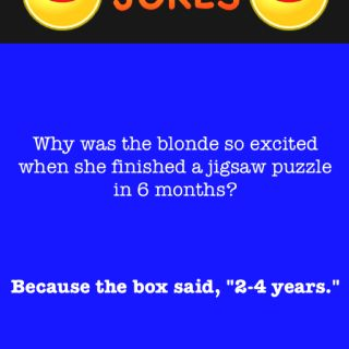 unfortunately blonde jokes are the best kind