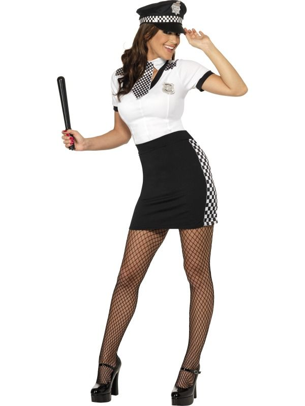 Cop Costume, Black and White