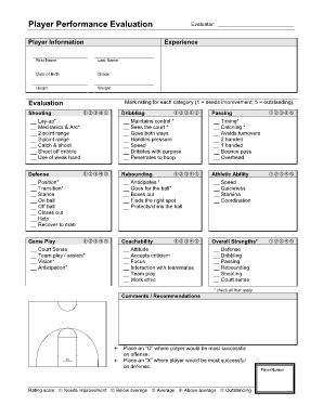 Image Result For Basketball Evaluation Form