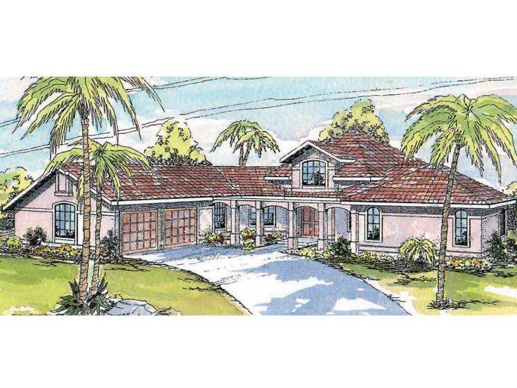 Mediterreanan home 051h 0200 lake house pinterest for Customized floor plans for new homes