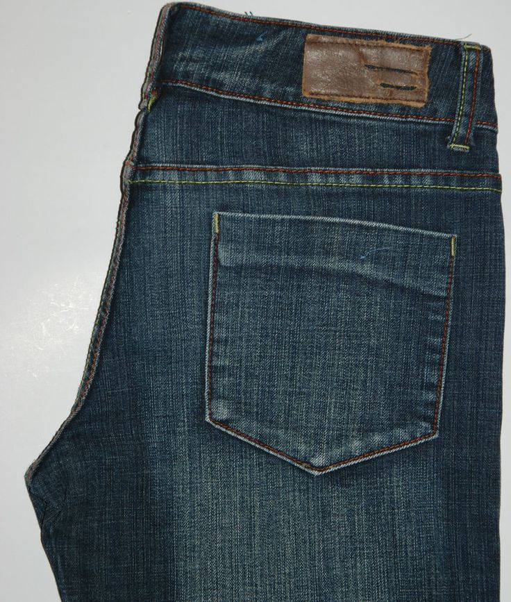 VINTAGE DIESEL STRAIGHT FIT INDIGO FADED BLUE COLORED TREAD LOW RISE W31 L32