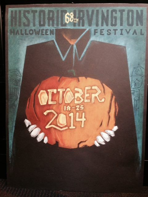 irvington indiana halloween festival poster entry for 2014 - Halloween Indiana